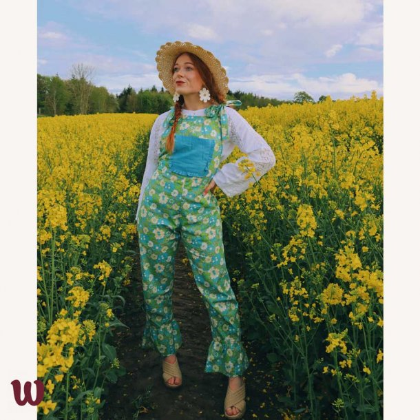 Yvonne Dungarees Green Floral